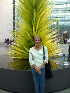 At the MFA for the Chihuly exhibit
