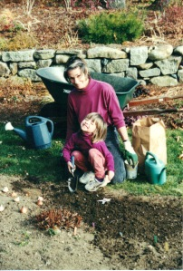 Pam and Elise Gardening