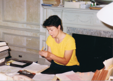 Pam at work as project manager in 1989