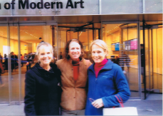 Pam with Deb Stocker, and Mary Jane Marchisotto at MoMA in 2012.